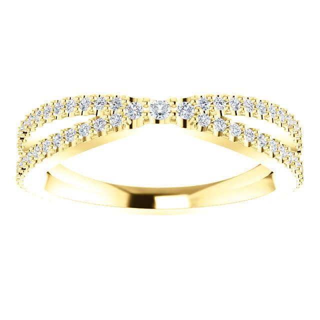 Stuller Contour diamond wedding band 0.33 carat