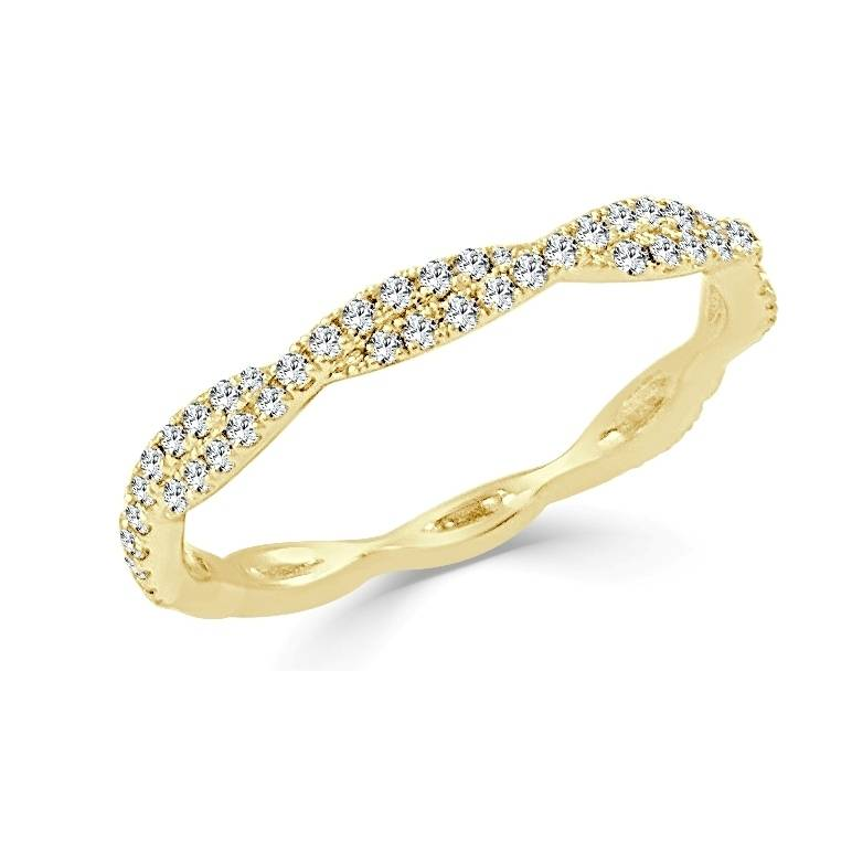 CR3234 twisted band 0.28 ct tw