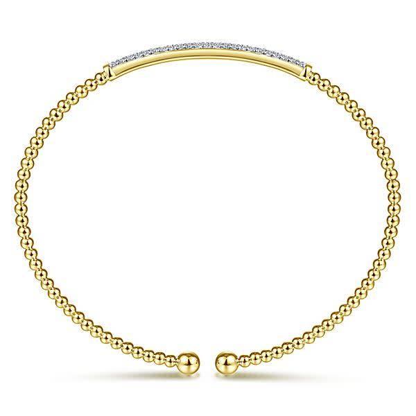 Gabriel & Co BG4262 Yellow Gold Diamond Bangle