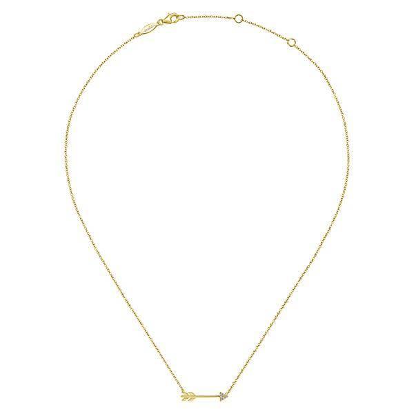 Gabriel & Co 14kt Gold Diamond Arrow Necklace