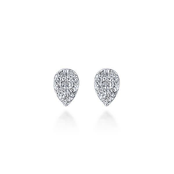 Gabriel & Co 14kt Gold Diamond Pear Shape Studs