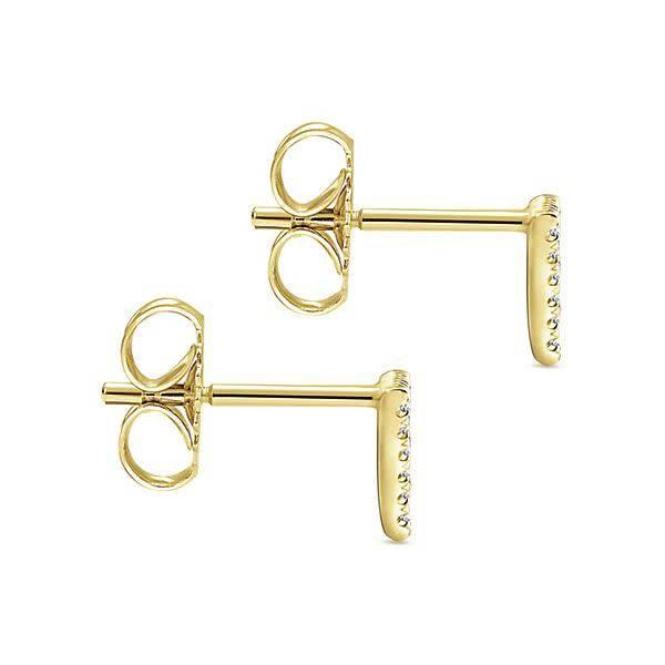 Gabriel Co 14kt Gold Triangle Diamond Stud Earrings