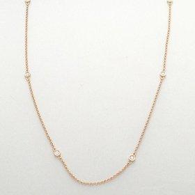 Bezel Station Diamond Necklace