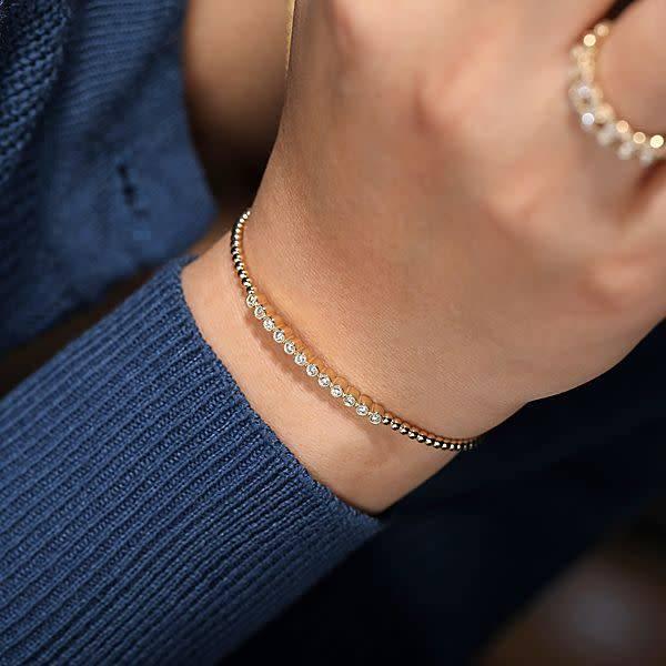 Gabriel & Co BG4118 pave diamond bangle bracelet