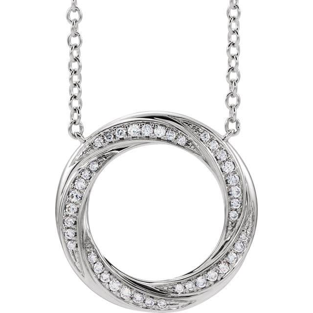 Stuller 653535 Diamond Circle Necklace