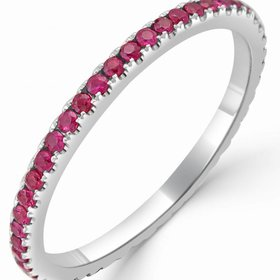18kt Gold Ruby Eternity Band