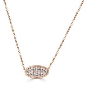 N248 Pave Oval Diamond Necklace