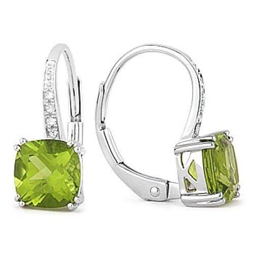 Madison L Peridot & Diamond Drop Earrings