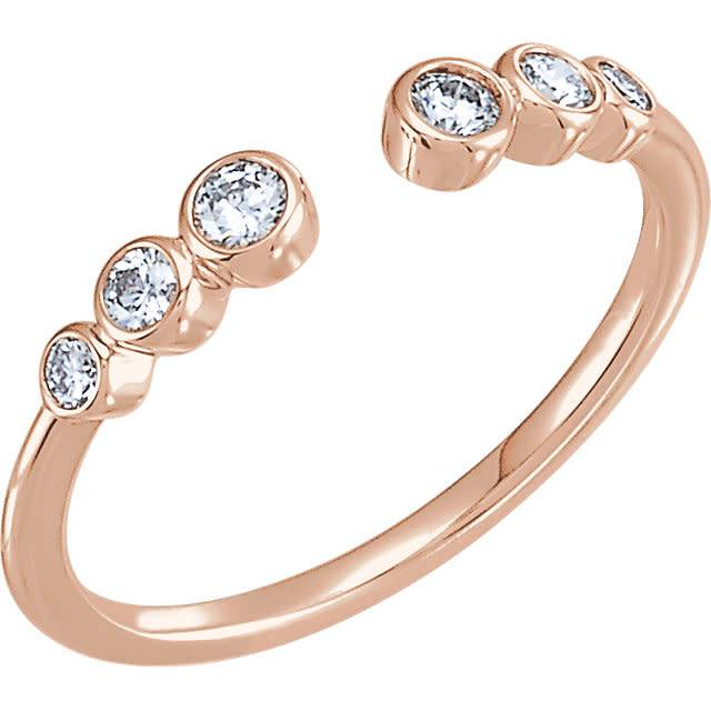 Stuller Negative Space Diamond Bezel Ring