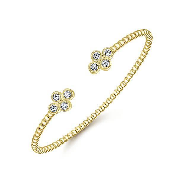 Gabriel & Co BG4124 Bezel Diamond Bangle