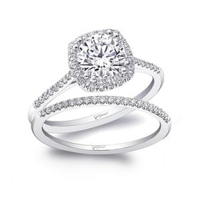 LC5410 thin halo engagement ring setting