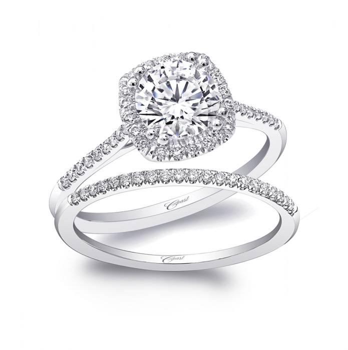 Coast LC5410 thin halo engagement ring setting