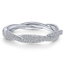 LR51840 twisted diamond eternity band