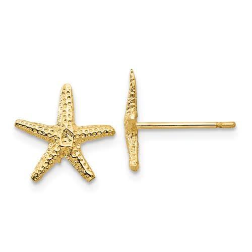 Q Gold 14kt Yellow Gold Starfish Earrings