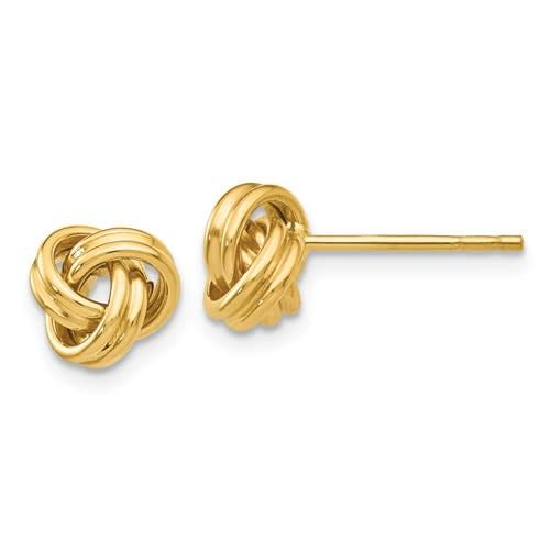 Q Gold 14kt Love Knot Post Earrings