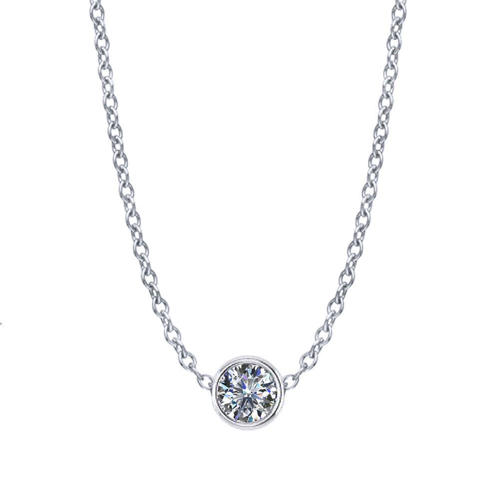 Diamond Bezel Necklace 1/4 Carat