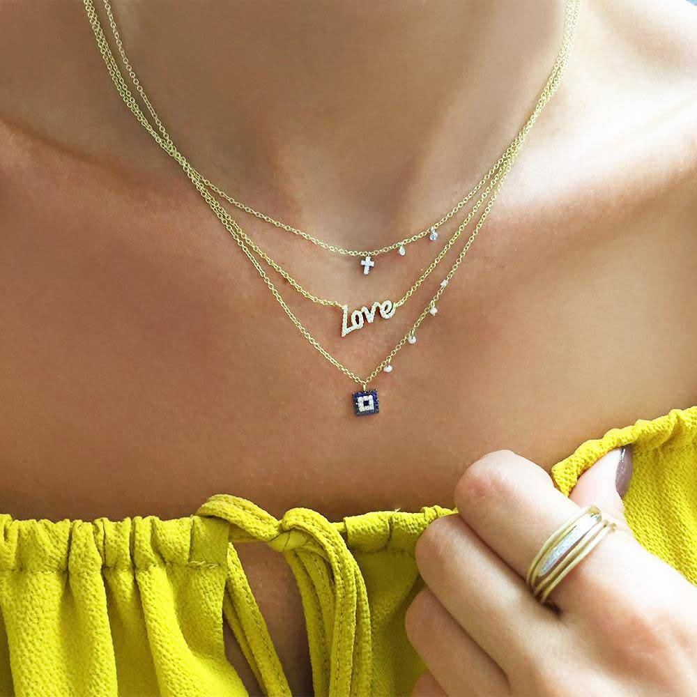 Meira T Diamond Love Necklace