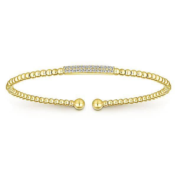 Gabriel & Co BG4119 14kt yellow gold diamond bangle