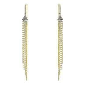 14kt Gold Chandelier Diamond Chain Earrings