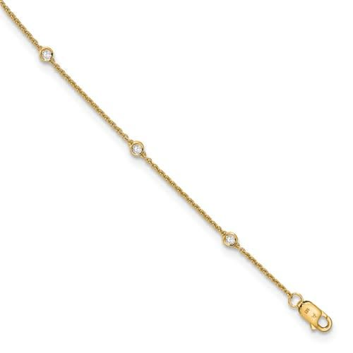 Q Gold Lab Grown Diamond Bezel Bracelet