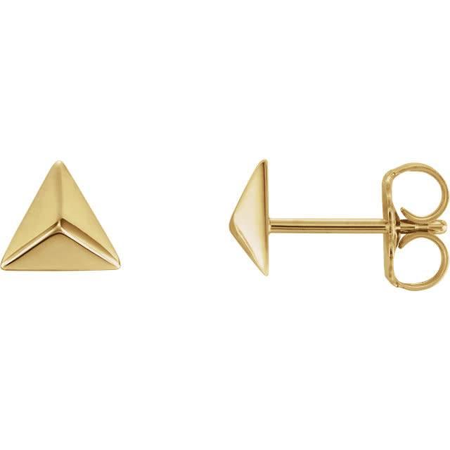 Stuller 14kt Gold Pyramid Earrings
