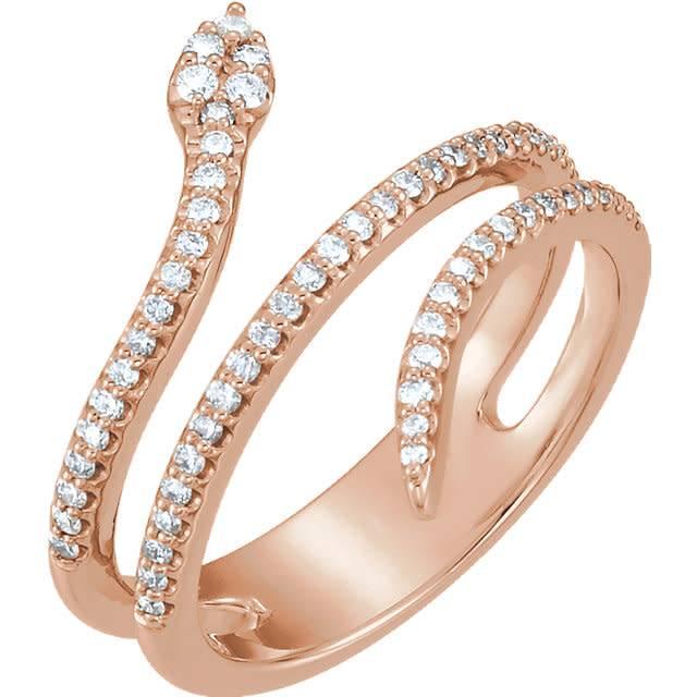 Stuller Diamond Snake Ring