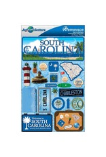 Reminisce South Carolina Dimensional Stickers