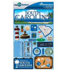 Reminisce South Carolina Dimensional Stickers