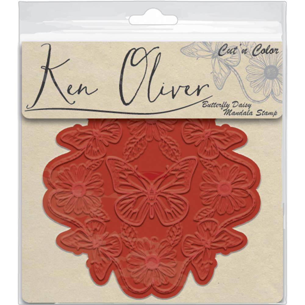 Ken Oliver/Contact USA Butterfly Daisy Mandala Stamp