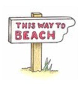 Pink Ink Beach Sign