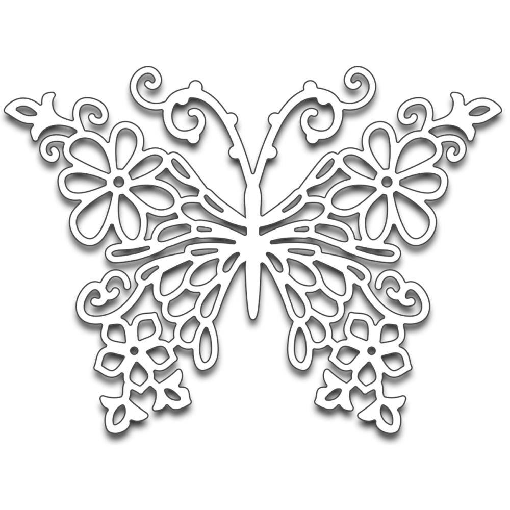 Penny Black Floral Butterfly