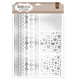 Bo Bunny Accents Silver Foil Rubons
