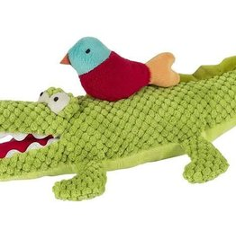 Alex the Musical Green Alligator with Colorful Bird