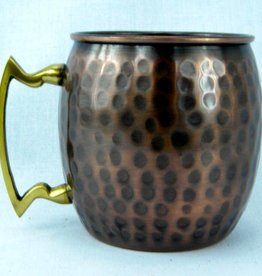Antique Hammered Barrel Mug