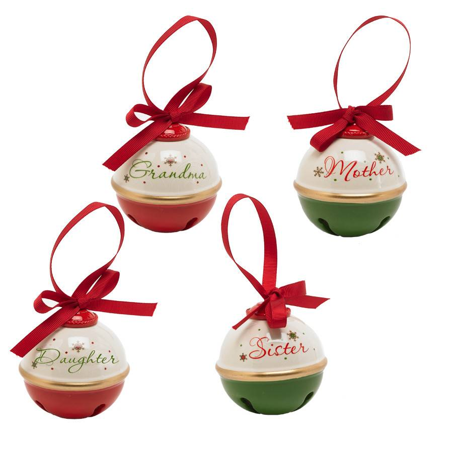 3 inch assorted christmas bell ornaments mother daughter sister