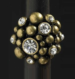 Gold Caviar Big Stone Ring