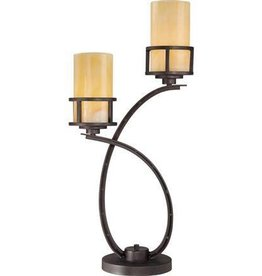 Table Lamp 2 Light Imperial Bronze