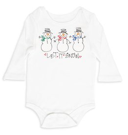 6-12 Months Long Sleeve Let it Snow One Piece