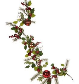"""Berry Holly Pine Garland 70"""""""