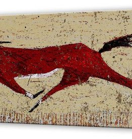 "16x42 ""Western"" (Red Horse)- Metal Box Art- Shelle Lindholm"