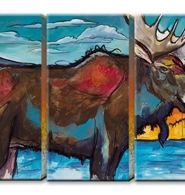 3 Aluminum Panel Moose 63x42 ED Anderson