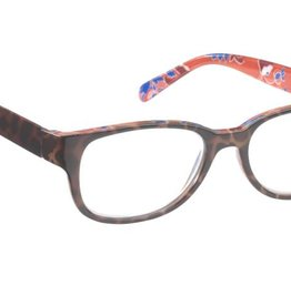 Oval tort. frt. & Tmpls./Orange Floral Interior Print +2.00