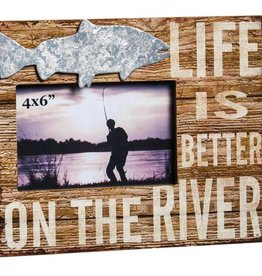 Wooden 4x6 Picture Frame, Life is Better on the River