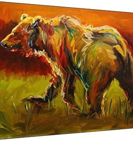 Red Sky Bear- 30x45 Canvas