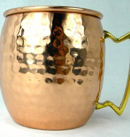 Shiny Hammered Barrel Mug