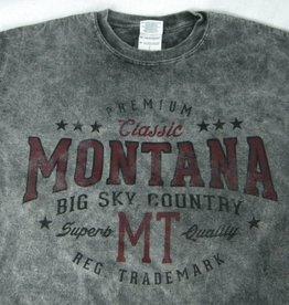 "Men's Acid Wash ""Montana Big Sky Country"" Charcoal- Large"