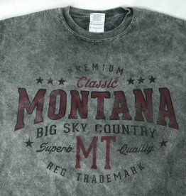 "Men's Acid Wash ""Montana Big Sky Country"" Charcoal- Small"