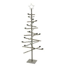 52 Inch Grey Washed Rattan Wrapped Metal Tree