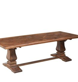 "Napa Trestle Dining Table in Aged Sable - 96"" x 42"""