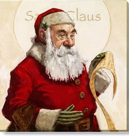 14x14 Inch Gallery-Wrapped Santa Claus